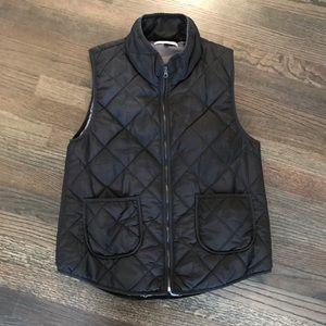41 Hawthorn Black Quilted Vest Large L EUC